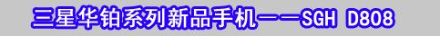 三星SGH-D808