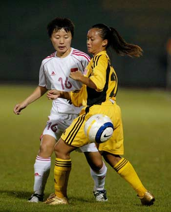 女足亚青赛-中国22-0东道主 半决赛对憾日本