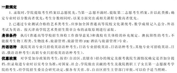 2006高校录取规则——天津商学院