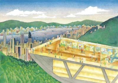 看世界四大夜景之一香港太平山顶夜景(图)