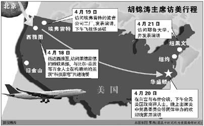 同志在对美国的几次访问中也曾数次到访西雅图