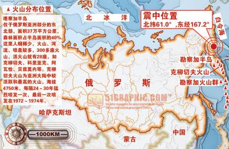 俄罗斯堪察加半岛东北地区今发生8.0级强烈地震-搜狐