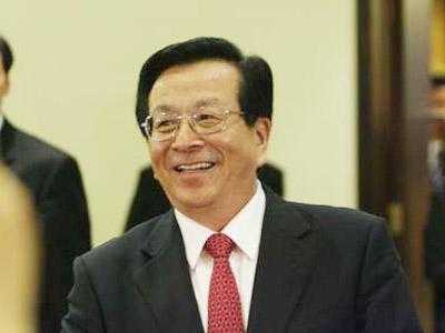 图:中华人民共和国副主席曾庆红走出会场