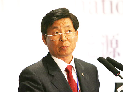 图:中远集团总裁魏家福