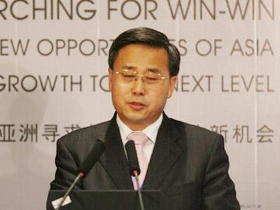图:主持人:中国建设银行董事长郭树清