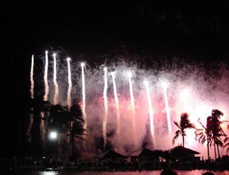 图:博鳌之夜——美丽浪漫的烟花