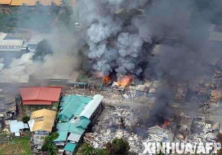 组图:所罗门群岛选举引发骚乱