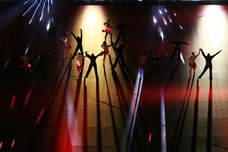 图文:世乒赛开幕式举行 精彩的文艺表演