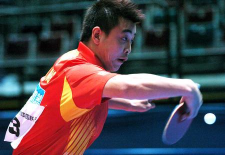图文:中国次战3-0战胜荷兰 王皓在比赛中