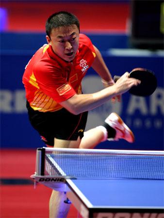 图文:中国男团3-0瑞典 马琳信心十足赢比赛