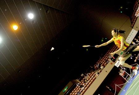 图文:2006汤尤杯开拍 张宁勇战美国选手