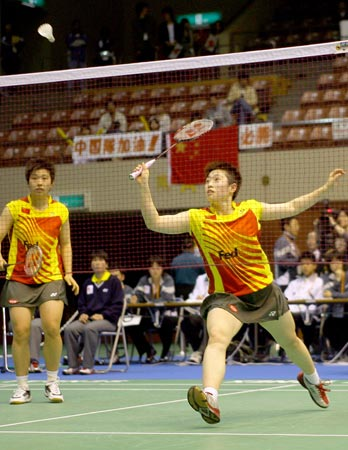 图文:2006汤尤杯开拍 杜婧于洋迎战美国选手