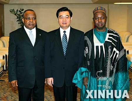 胡锦涛会见尼日利亚国民议会参众议长