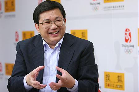 图文:央视网络传播中心主任汪文斌做客搜狐