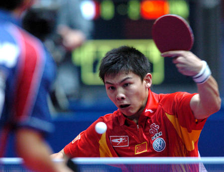图文:中国淘汰法国进四强 陈玘在比赛中