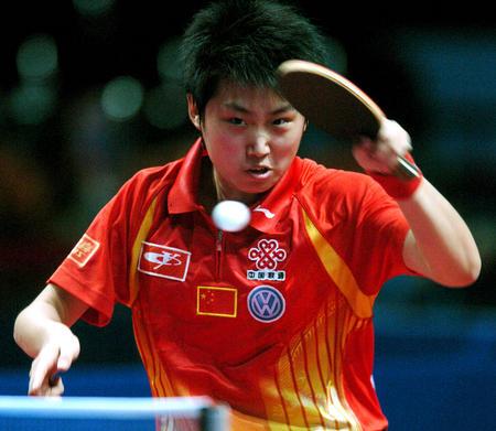 图文:中国夺得世乒赛女团冠军 郭跃1-3帖娅娜