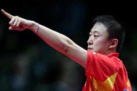 图文:中国蝉联男团冠军 马琳一剑定江山