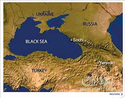 亚美尼亚客机黑海坠毁 百名乘客可能罹难(图)