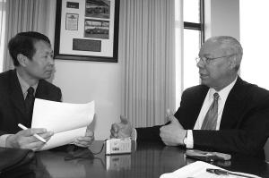 美国前国务卿鲍威尔称中国对世界不是威胁(图)