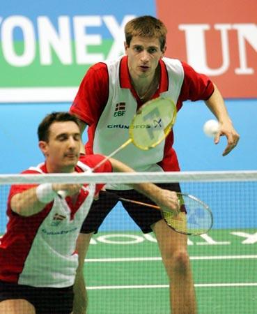 图文:中国成功卫冕汤姆斯杯 丹麦组合拼尽全力