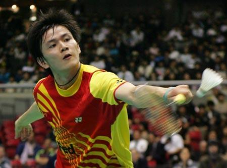 图文:汤杯决赛中国横扫丹麦 鲍春来潇洒回球