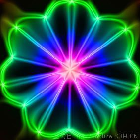 天极设计在线_Photoshop滤镜绘制中心对称水晶图案