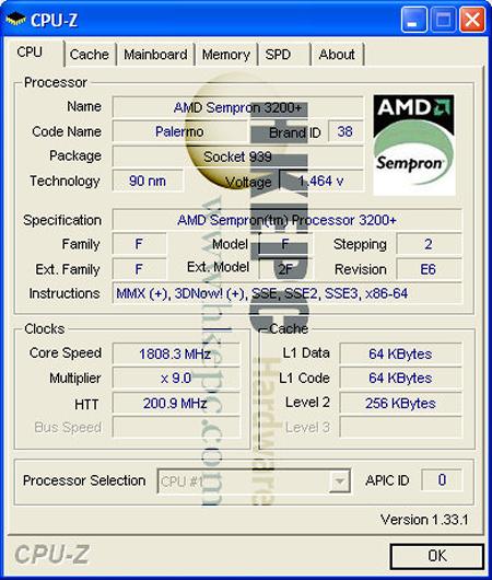 香港卖场现Sempron Socket 939处理器