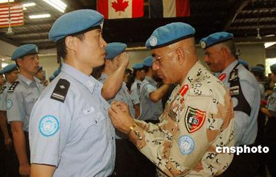 公安部培训第4期维和防暴队 边防部队单独组队
