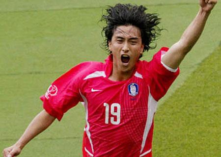 06世界杯韩国队球员+前锋安贞焕