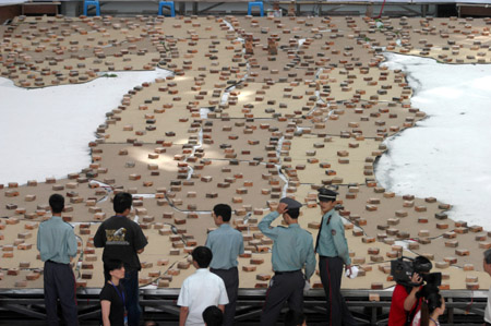 蔡国强大师在福建炸出世界最大火药壁画(组图)