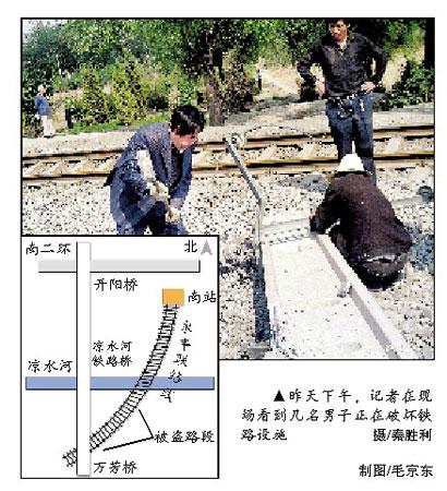 北京南站停运引来窃贼 数十人盗卖铁路设施(图)