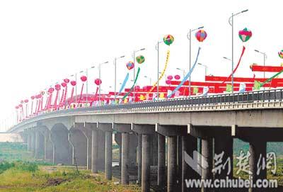 湖北盘龙城大桥通车 汉口到黄陂只需15分钟(图)