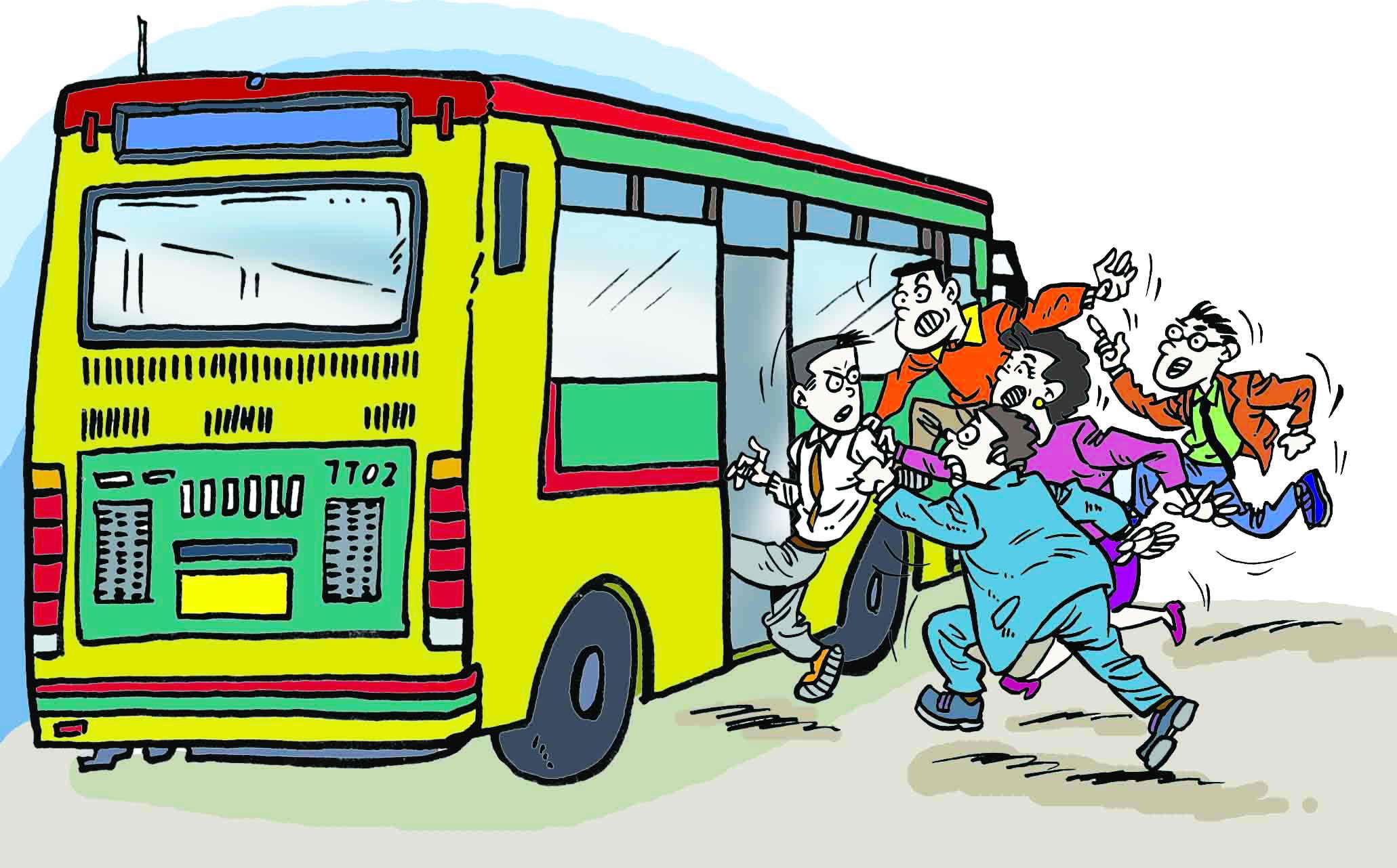 小小智慧树坐公共汽车-文明乘坐公交车漫画 文明乘坐公交车漫画 乘坐公交车漫画高清图片