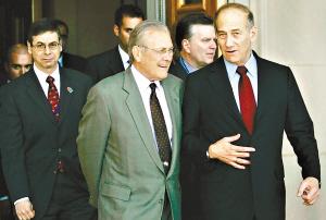 以色列总理会晤布什 称阿巴斯不是理想谈判对象