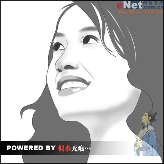 用Photoshop快速打造韩国美女插画