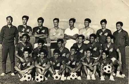 图文:陈熙荣老照片 76年亚洲杯决赛