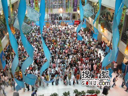 《梦想中国》成都海选现场:集结大厅人山人海