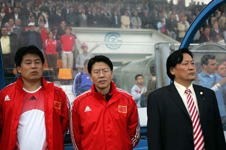 独家图片:中国1-4兵败瑞士 中国队教练组