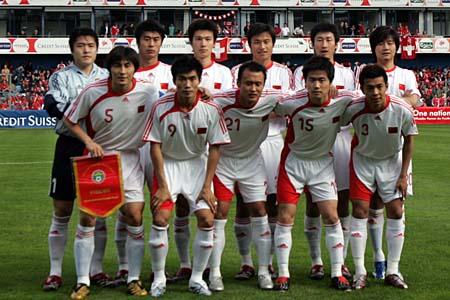 独家图片:中国1-4兵败瑞士 中国首发阵容