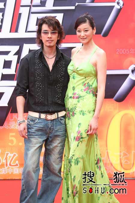 图片报道:吴向东和郭桦携手走红毯