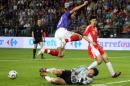图文:世界杯热身法国VS中国 特雷泽盖脚下留情