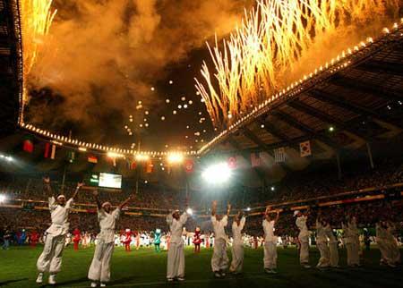 组图:2002年日韩世界杯开幕式