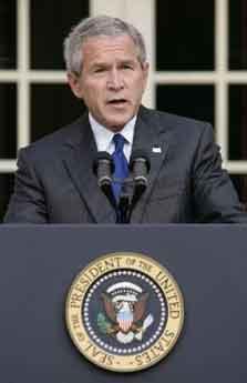 布什:扎卡维之死是对基地组织的沉重打击(图)