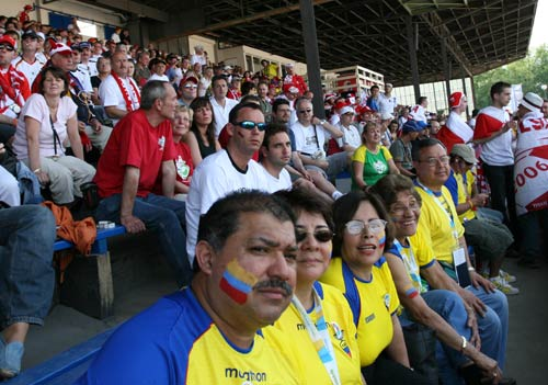 独家图片:球迷乐园万人同乐 厄瓜多尔球迷看球