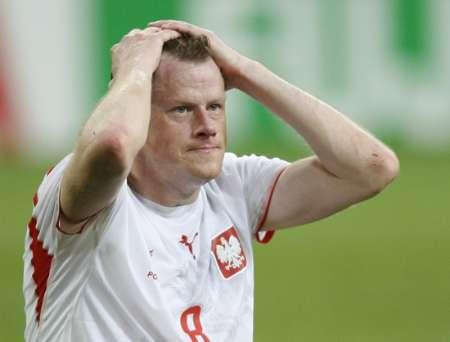 图文:波兰0-2厄瓜多尔 波兰球员沮丧表情