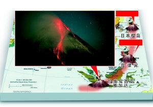 太平洋火山圈印尼菲律宾日本火山同日喷发