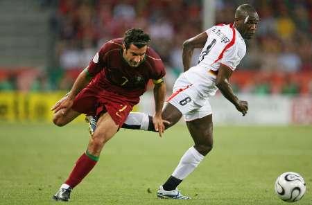 图文:安哥拉VS葡萄牙 菲戈也别想过