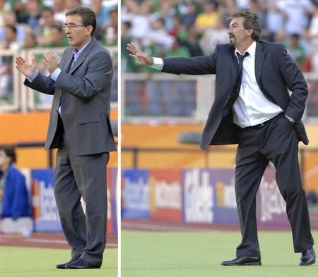 图文:墨西哥3-1伊朗 伊朗主帅场边指挥