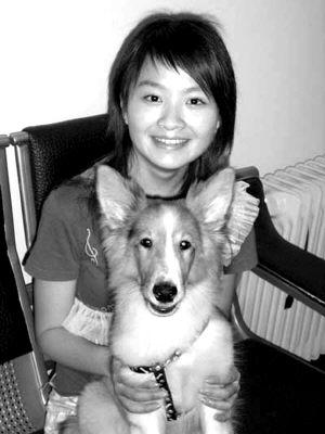 重庆美女携狗网上征友 欲从武汉徒步至重庆(图)