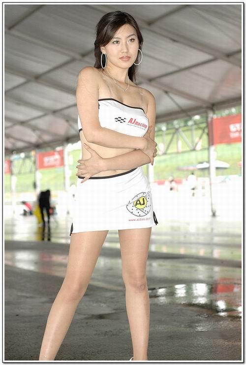 韩国长腿赛车美女模特图 搜狐广东